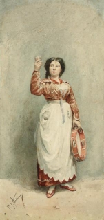 P J Antoine, Woman with a tambourine, Powell Bequest. (WD40)
