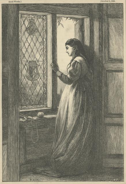 At the Window by Briton Rivière (Aberystwyth University School of Art)