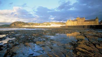 Old College and the seafront, Aberystwyth.