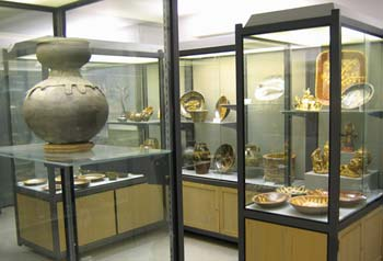 View of the exhibits in the Ceramics Gallery.