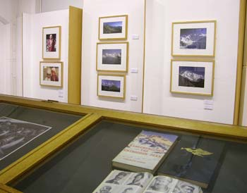 View of exhibits at the exhibition.