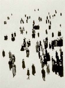 Alexander Adams, Crowd, gouache on paper, 2003 (Collection of Direct Data Services, Liverpool)