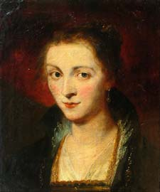 after Peter Paul Rubens (1677–1740), Susanne Fourment (elder sister of Ruben's second wife) 1620–1625, oil on canvas, early 18thC
