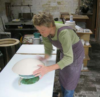 Vicky Shaw at work.